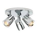 Endon Knight 39167 Chrome Round 3 Light Ceiling Light